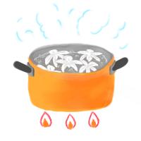 母液の抽出:煮沸法